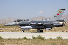 86-0194_F-16DFightingFalcon_TurkishAF_KYA (Tony Osborne - Rotorfocus) Tags: turkey force martin exercise general eagle air f16 tai falcon fighting lockheed viper dynamics 142 turkish konya 2014 anatolian f16d