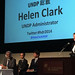 UNDP Administrator Helen Clark makes opening remarks at the HDR 2014 launch in Tokyo
