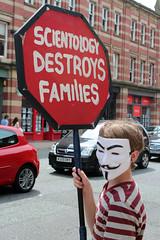 Anonymous Manchester Scientology Protest July 2014 (strobe-) Tags: manchester protest scientology cult raid activism anonymous churchofscientology deansgate projectchanology chanology scientologymanchester anonymousuk anonymousmanchester