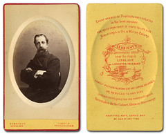 Carte de visite photo of man (leightonian) Tags: portrait man studio buckinghamshire bedfordshire cartedevisite sebright linslade