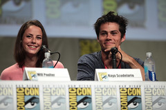 Kaya Scodelario & Dylan O'Brien (Gage Skidmore) Tags: california dylan ball james san comic diego center will obrien convention maze wes runner kaya con poulter 2014 dashner scodelario