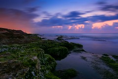 Sunset in Tel-Aviv beach (Lior. L) Tags: sunsetintelavivbeach sunset telaviv beach landscape sea seascapes rocks longexposure clouds cloudysunset reflection light travel travelinisrael telavivbeach