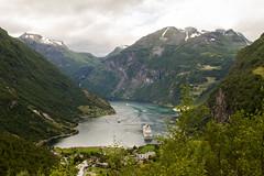 Geirangerfjord (alexanderscholz) Tags: geiranger norwegen fjord geirangerfjord norway kreuzfahrt kreuzfahrtschiff hurtigruten aurland scandinavia skandinavien europareise norden nort mountains