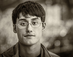 Brian (andy_8357) Tags: monochrome people portrait man young boulder colorado handsome kind gentle ilce6000 a6000 sony nikkor 105mm f25 vintage lens mirrorless nikon sepia bokeh glasses ilcenex alpha ai emount