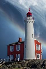 Atmospheric Phenomenon (Prestidigitizer) Tags: buildings victoria fortrodd fisgardlighthouse rainbow cloud sky coast ocean westcoast pentaxk3 pentaxda50135mm