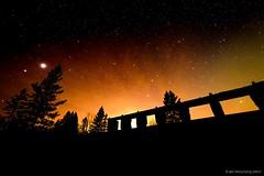 Saffron Glow... (mc_icedog) Tags: night sky park planets glow tripod trees old power dam stars wide angle astrophotography cold depth field darkness long exposure horizon illumination landscape outdoors vibrant