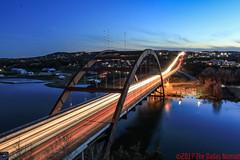 The Descenting Sky (The Dallas Nomad) Tags: austin texas loop 360 highway pennybacker bridge lake blue colorado river reflection water sky dusk outdoor