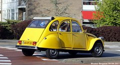 Citroën 2CV 1978 (XBXG) Tags: 65zt22 citroën 2cv 1978 2cv4 citroën2cv 2pk deuche deudeuche eend geit jaune yellow overveen nederland holland netherlands paysbas vintage old classic french car auto automobile voiture ancienne française vehicle outdoor