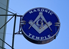 Masonic Temple, Alameda, CA (Robby Virus) Tags: alameda california ca eastbay neon sign signage masonic temple hall lodge masons freemasons fam 1926 fraternal organization