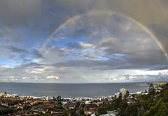 rainbow collaroy plateau panorama S D810 Z28mm_tonemapped (neilfif11) Tags: rainbow sydney narrabeen ocean panorama nikond810 zeiss2820mmlens