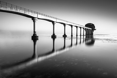The Pier (evorichie101) Tags: spring pier reflection bembridge isle wight bw black white nikon landscape seascape beach mono monochrome high contrast sunrise