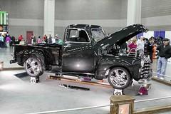 IMG_1263 (kustomrydes) Tags: 1949 24105mm 50d 55thfinalshow carlcasper chevrolet ky black canon custom indoor kustomrydes kustomrydescom truck