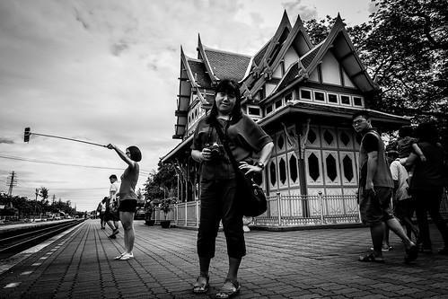 Selfie at Hua Hin Railway Station | Bangkok 2016