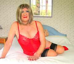 Maxredsmlls-001 (fionaxxcd) Tags: cd tg ts ladyboy drag femmeboi mtf m2f transvestite tranny trannie crossdresser crossdressing xdresser xdressing stilettoes stockings suspendersrednails redbra bust thighs