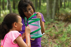BlueBay13_RH29_4591 (GirlScoutsCC) Tags: biology brownies exploringnature juniors magnifyingglass multiracial outdoors portraits science stem girl innovator