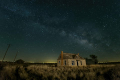 Milky Way in the Prairie (jamesclinich) Tags: texas tx milkyway nighttime stars buildings architecture abandoned sky tripod lowlevellighting olympus omd em10 corel aftershotpro paintshoppro topaz denoise adjust clarity detail jamesclinich