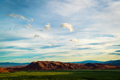 Lush Red Rock (cosmoguy1) Tags: red rock las vegas canyon nikon d5300 oben tripod 1855 kit lens clouds green colors complementary colours landscape photography phlearn ps cs6 lush greenery sunset dusk golden hour gold light nature