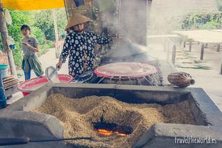 Taller fideos de arroz