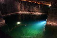 Salt mine, Wieliczka Poland (Wildrie) Tags: saltmine salt kroonluchter bron zout mijn zoutmijn 2017 april