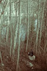 alone in the forest (sami kuosmanen) Tags: kuusankoski kouvola metsä photography puu taivas tree trees suomi finland forest joki kymi man mies maisema luonto light landscape nature north europe people colorful creative moody rock bokeh boulder kivi