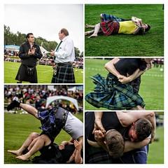 Bute Highland Games Collage (FotoFling Scotland) Tags: bute butehighlandgames event rothesay scottishwrestlingbond scottishbackholdwrestling wrestling backhold kilt rothesayacademy wrestlers