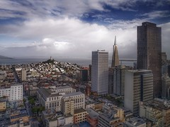 San Francisco View (karinavera) Tags: travel sonya7r2 sanfrancisco architecture day clouds aerial california sky cityscape view city