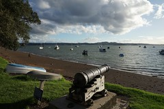 Old cannon over the bay, Russell (jozioau) Tags: variosonnart282470 cannon boats moorings bay russell
