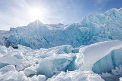 Portage glacier (spwasilla) Tags: ice glacier lake sunshine portageglacier alaska iceberg blue