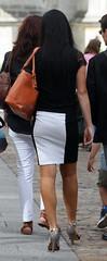 183 (SadCire) Tags: woman frau femme mujer girl calves legs miniskirt minidress skirt heels street candid sexy