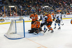 "Missouri Mavericks vs. Wichita Thunder, March 25, 2017, Silverstein Eye Centers Arena, Independence, Missouri.  Photo: © John Howe / Howe Creative Photography, all rights reserved 2017. • <a style=""font-size:0.8em;"" href=""http://www.flickr.com/photos/134016632@N02/33571547801/"" target=""_blank"">View on Flickr</a>"