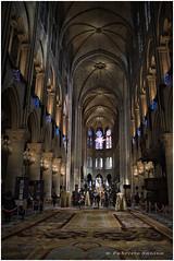 notre dame (sanino fabrizio) Tags: cattedrale chiesa mounumento interno storico hdr parigi francia historical navata centrale canon 1855 prospettiva duomo