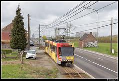 TEC 7412 - M2/23 (Spoorpunt.nl) Tags: 1 april 2017 tec bn wagen tram métro léger de charleroi mlc premetro brugeoise et nivelles lrv light rail véhicule 7412 rit 23 lijn m2 anderlues surschiste coron du berger fontainelévêque