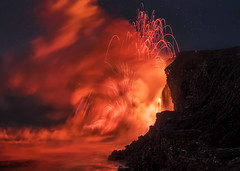 Agni's Throne (Sairam Sundaresan) Tags: 61g finished lavaflow bigisland color oceanentry sonyalpha nature sairamsundaresan landscape colors outdoor sky hawaii wilderness kalapana