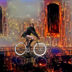 invisible cities. (everything conceals something else.) (Photomaginarium) Tags: surreal fantasy imagination inspiration innovation contemplation annihilation evolution revolution ballofconfusion andthebeatgoeson creativity create art arty street candid pointandshoot processed processing verbtensesman youeverwatchaverbgettense city downtown bike bicycle turningthedaytonight hongkong gimp dreamscope