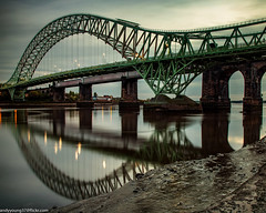 Runcorn Bridge reflections (4 of 5) (andyyoung37) Tags: reflections runcorn runcornbridge uk waterreflections widnes cheshire rivermersey