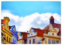 Clouds on the roofs. (franco.56) Tags: praga franco nikon colors roofs sky clouds