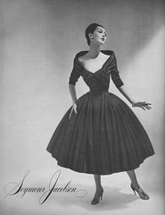 Seymour Jacobson 1956 (barbiescanner) Tags: fashion vintagefashion 50s 50sfashion vintageads dovima seymourjacobson vintage retro