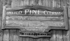 The Wild, Wild West 07 (byronv2) Tags: edinburgh edimbourg scotland morningside oldwest wildwest cowboys history quirky odd folly eccentric michaelfaulkner sign faded elpaso blackandwhite blackwhite bw monochrome