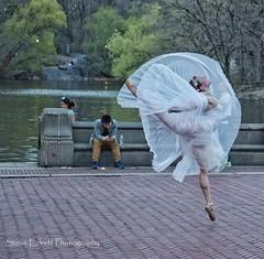 Taking off (steveedreff) Tags: outside water wings white woman ballerina ballet dancing dance
