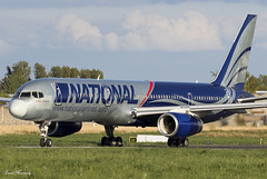 National Airlines 757-200 N176CA (birrlad) Tags: shannon snn international airport ireland aircraft aviation airplane airplanes airline airliner airways airlines boeing taxi taxiway takeoff departing departure runway b757 b752 757 757200 75728a n176ca national camber troop flight cmb556 budapest aldhafra air base uae