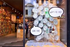 Wine O'Clock_0368 (Irwin Reynolds photo eXpressions) Tags: wineshops boutiquewineshops clocks conceptoftime time winetime brunswickstreetfitzroy fitzroyvictoria trendyaustraliansuburbs novelwindowdisplays imaginativewindowdisplays marketing windowdisplays