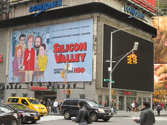 Silicon Valley HBO Times Square Billboard 4352 (Brechtbug) Tags: silicon valley hbo show bus billboard springtime new york 2017 april 04142017 taxi cab sunny 42nd street 7th ave number one times square nyc pedestrians avenue st commuting shows billboards graphic novel artist daniel clowes illustration looks great art technology fueling station electricity power cartoon caricature cartoons