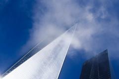 Scrape (DeShaun Craddock) Tags: newyorkcity architecture fog worldtradecenter bluesky nyc newyork unitedstates us