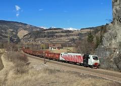EU43 005, Vipiteno,  22 Feb 2017 (Mr Joseph Bloggs) Tags: rtc lokomotion rail traction company railway railroad verona brennero vipiteno train treno freight cargo merci eu43 005 eu43005 e412 brenner