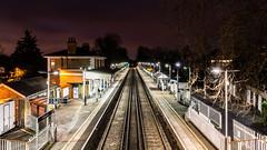London   |   Chiswick Station (JB_1984) Tags: station chiswickstation railway platform night grovepark chiswick londonboroughofhounslow london england uk unitedkingdom