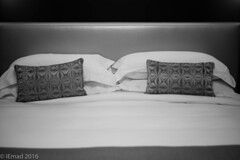 Tension is who you think you should be. Relaxation is who you are... (EHA73) Tags: aposummicronm1250asph leica leicamm typ246 blackandwhite bw monochrome relaxation bed pillow interior