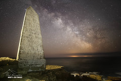 Star Bill - Portand, Dorset (macdad1948) Tags: stars astro nightscape starscape night milkyway dorset portland portlandbill lighthouse monument sea waves shore jurrasiccoast swcoastalpath