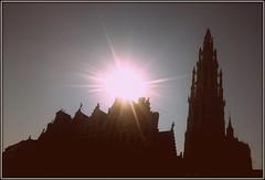 Cathedral at the Grote Markt, Antwerp, Belgium (Wagsy Wheeler) Tags: antwerp antwerpen belgium cathedral cathedralofourlady sun onzelievevrouwekathedraal sunrise silhouette grotemarkt markt marketsquare greatmarket unesco unescoworldheritagesite worldheritagesite