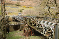 Old bridge/older bridge. (aitch tee) Tags: elanvalley baileybridge suspensionbridge walesuk
