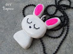 How to make a cute easter gift basket with DIY easter gifts 28 (DIY Empress) Tags: diy easter easterdiys happyeaster cute eastergifts giftbasket howto tutorial beautiful bunnies easterbunnies bunny blogger inspiration make basket bunnykeychain keychain necklace polymerclay mseal creativityfound pompom